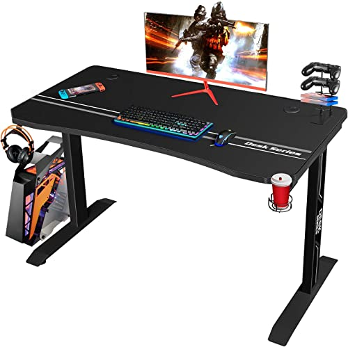 Furmax 44 Inch Gaming T-Shaped PC Computer Table