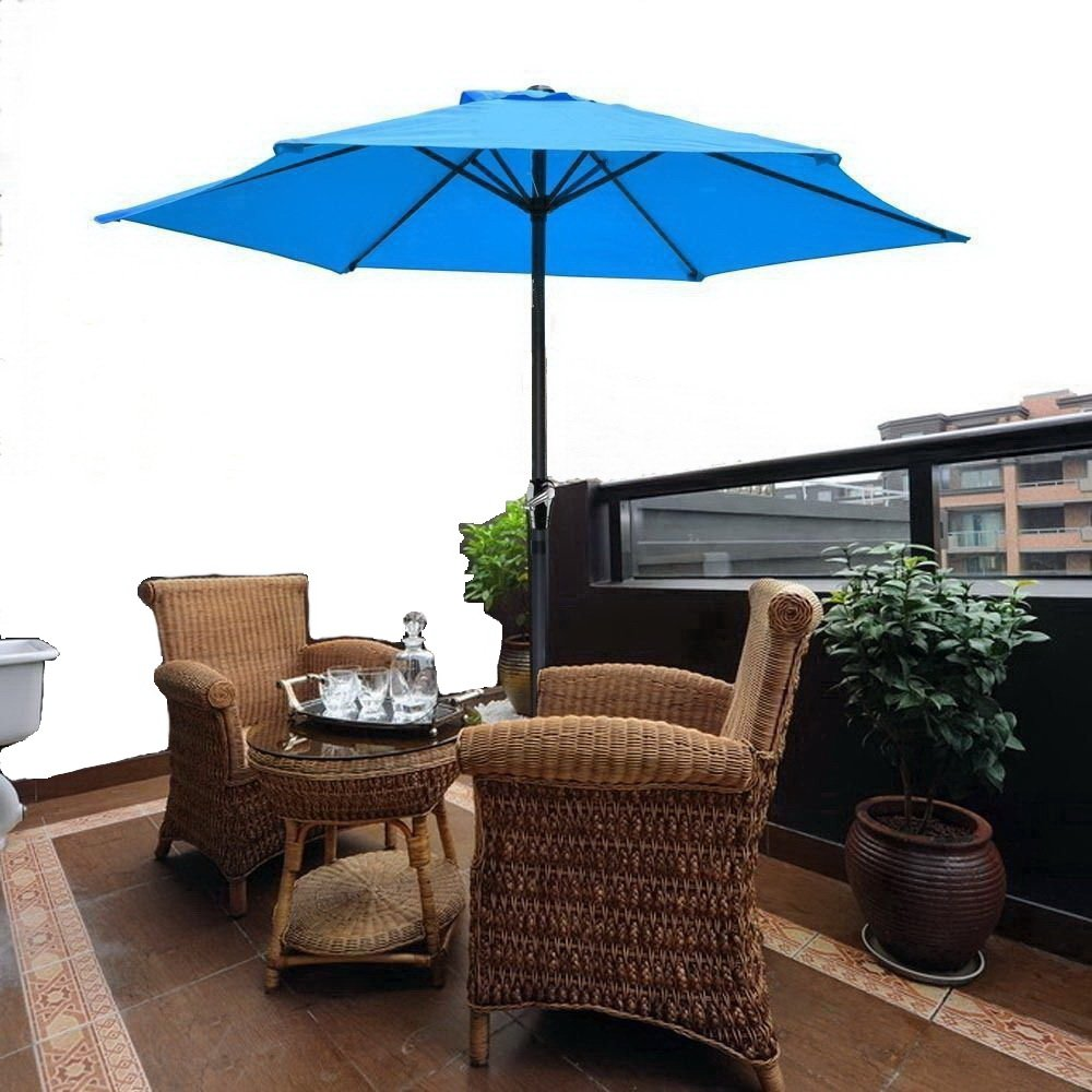 Amazoncom 8u0027 Ft Blue Patio Umbrella