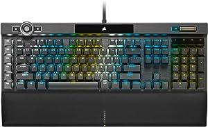 Corsair K100 RGB Mechanical Gaming Keyboard - Cherry MX Speed RGB Silver Keyswitches - AXON Hyper-Processing Technology for 4X Faster Throughput - 44-Zone RGB LightEdge - PBT Double-Shot Keycaps