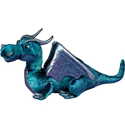 "Plush Jade Blue Dragon 15"": Toys & Games"