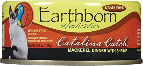 Earthborn Holistic Catalina Catch Mackerel Dinner With Shrimp Wet Cat Food, 24-Pack