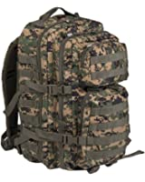 Mil-Tec Military Army Patrol Molle Assault Pack Tactical Combat Rucksack Backpack Bag 36L MARPAT Digital Woodland Camo