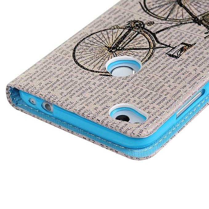 KASOS Funda Huawei P8 Lite 2017 Libro, Carcasa para Huawei P8 Lite 2017 Case de Piel PU Leather Cuero Atril con Tapa Estilo Libro Cartera Wallet Dibujo: ...