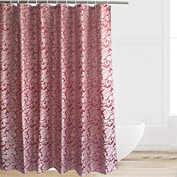 extra brown and red shower curtain. Eforcurtain Fashion Paisley Jacquard Shower Curtain Waterproof and Anti  Mildew Fashionable Soft Microfiber Curtains Amazon com