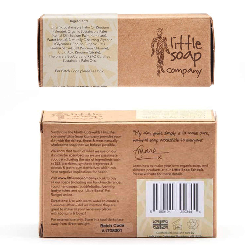 Organic Unperfumed Bar Jabón para la piel sensible (con) 110 G de harina de avena: Amazon.es: Belleza