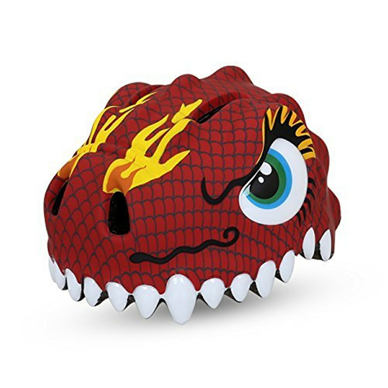 Dinosaur Red Design Bicycle Cycle Cycling Bike Helmets Protective Gear for Toddler Child Children Kids Safety Protection,Ultralight Breathable Sport Bike Helmet for Youth Boy Girl Student Pupil