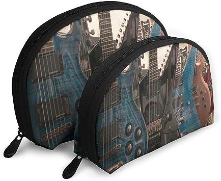 Estuche de Maquillaje Nuestras Guitarras Estuche de Maquillaje de Concha portátil para Madre Regalo de Pascua Paquete de 2: Amazon.es: Equipaje