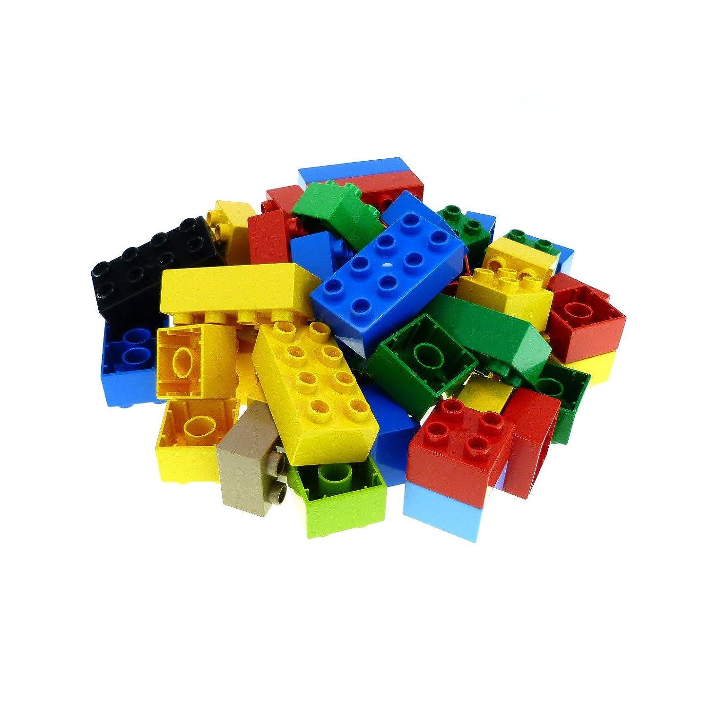 5 Bausteine Lego Duplo schwarz Steine 2 x 2-4er Noppen