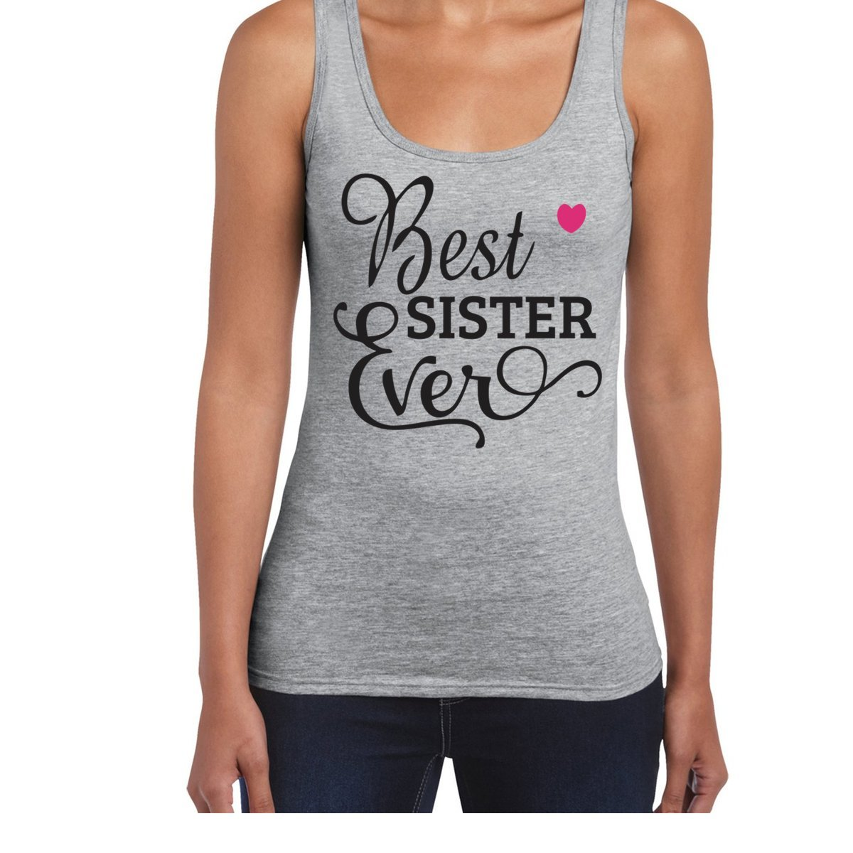 Amazon.com: AW Fashions Best Sister Ever - Cool Tshirt Womens Tank Top: Clothing