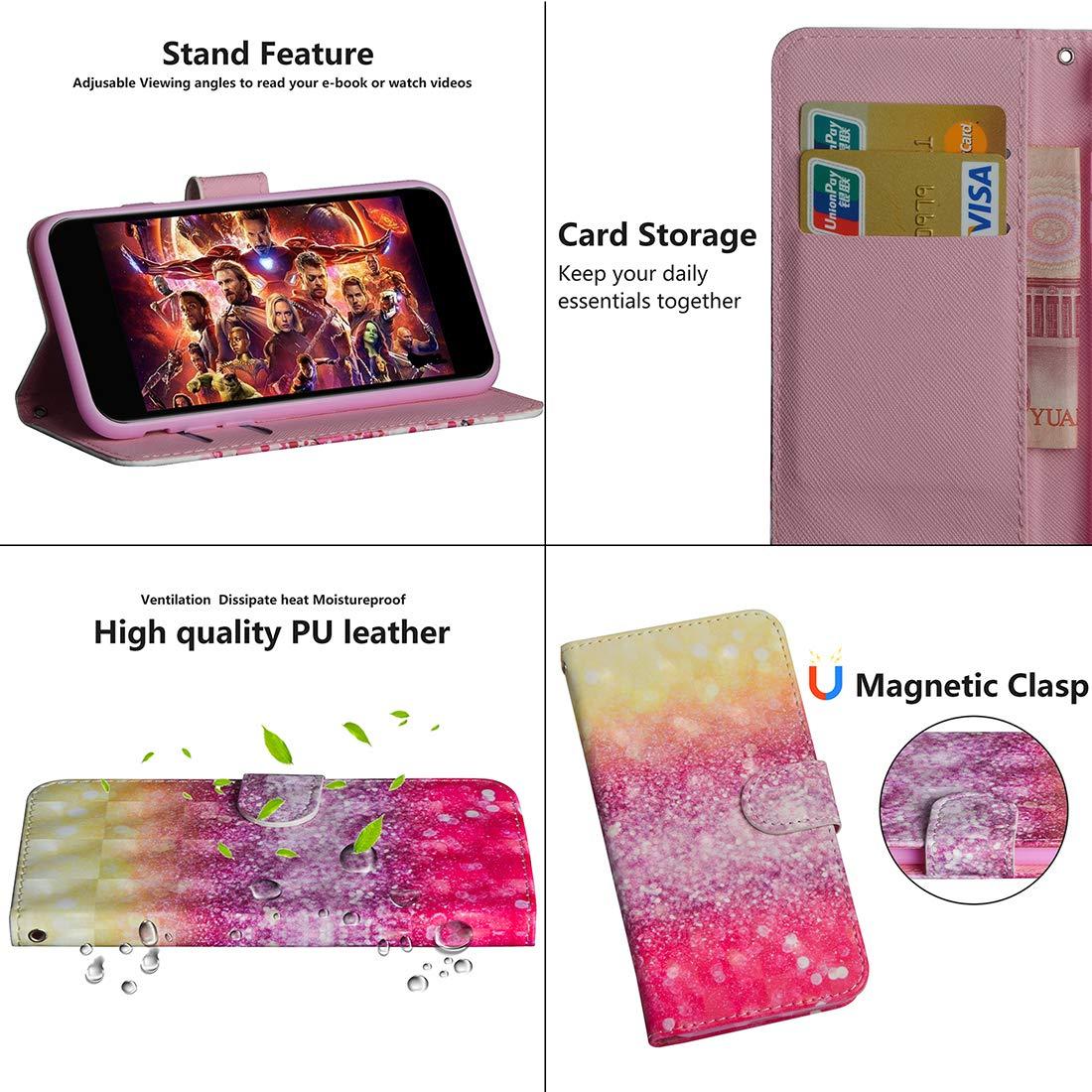 Lyzwn Huawei Y7 2019 Y7 Prime 2019 Funda Cuero 3D PU Billetera Funda Flip Wallet Case Cover Carcasa con Cierre Magn/ético Soporte para Huawei Y7 2019 Y7 Prime 2019 Y7 Pro 2019 Y7 Pro 2019