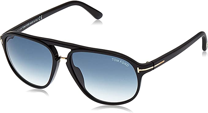 hot new products 100% authentic top fashion Amazon.com: Tom Ford Men FT0447 JACOB 60 Black/Blue Sunglasses ...