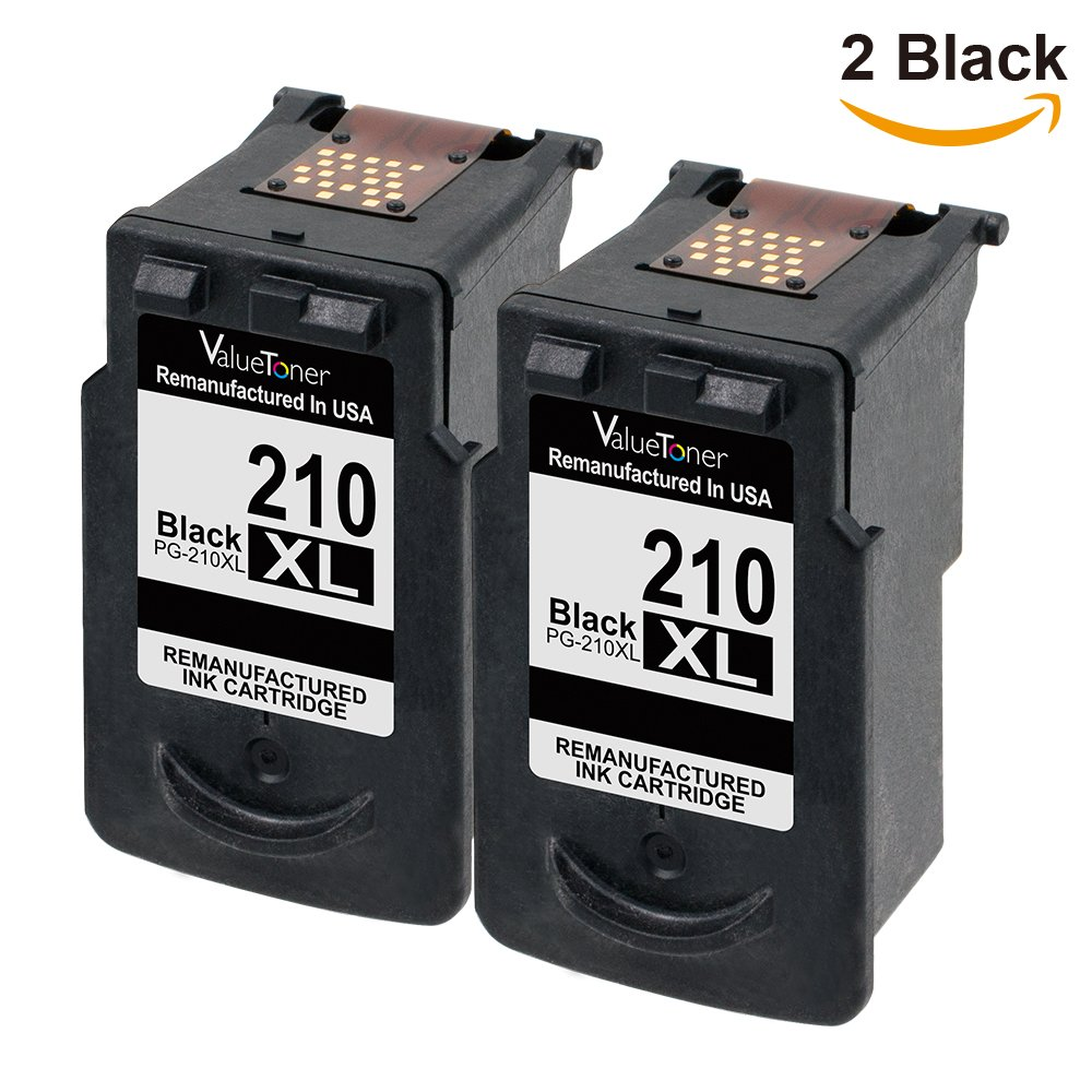 Valuetoner Remanufactured Ink Cartridge Replacement for Canon PG210XL, 210XL (2 Black) for PIXMA IP2700 IP2702 MP230 MP240 MP250 MP270 MP280 MP480 MP490 MP495 MP499 MX320 MX330 MX340 MX350 MX360 MX420