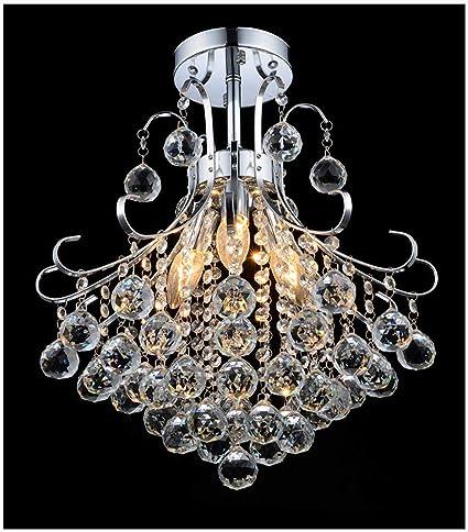 Candelabro de cristal Luz de techo Moderno, claro Perlas de ...