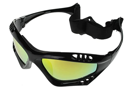 3bb9750d512 G G Polarized Water Sport Sunglasses Surfing Kiteboarding Jetski  (Black Gold)