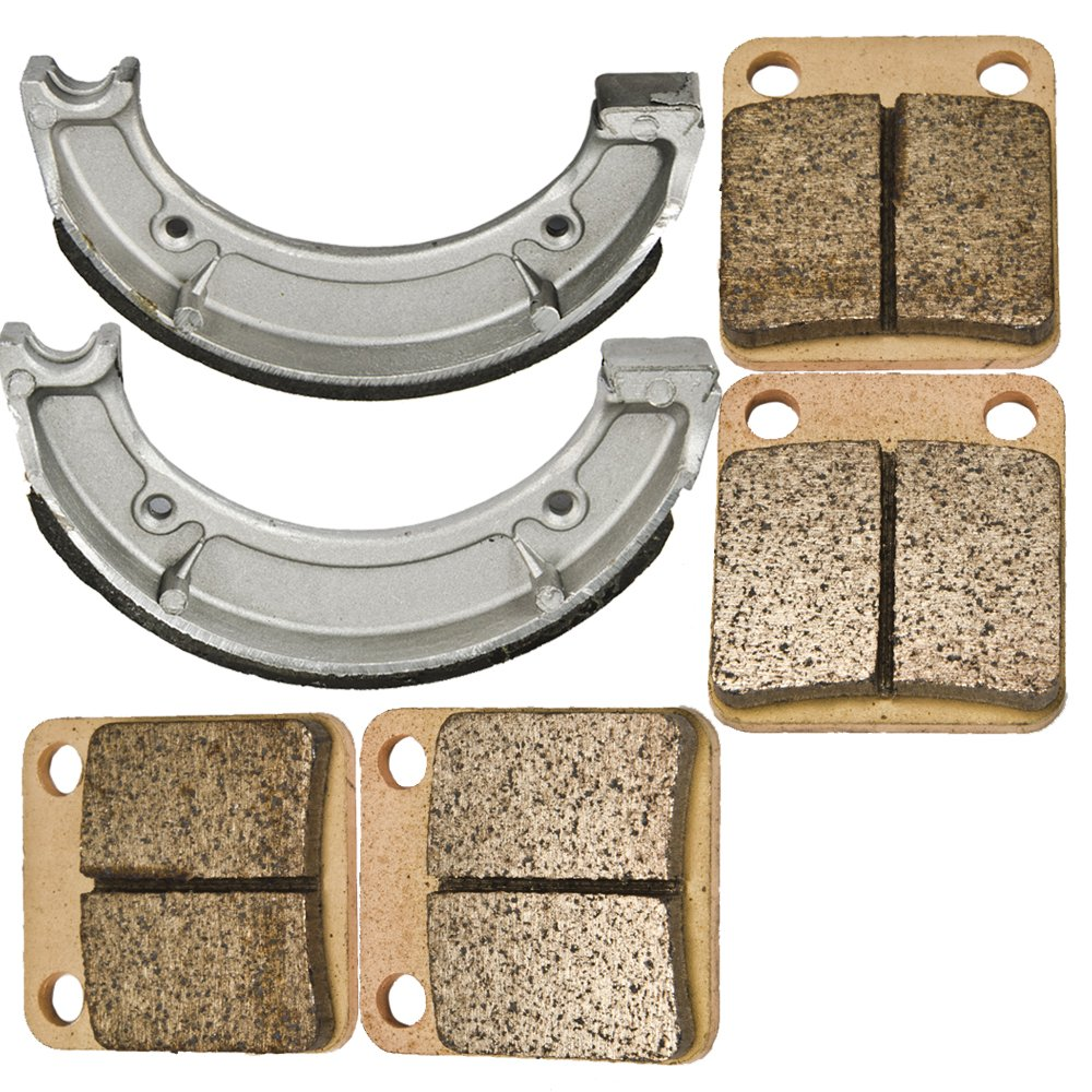 Front and Rear Brake Pads Shoes for Yamaha YFM 400 2x4 4x4 Big Bear 2000 2001 2002 2003 2004