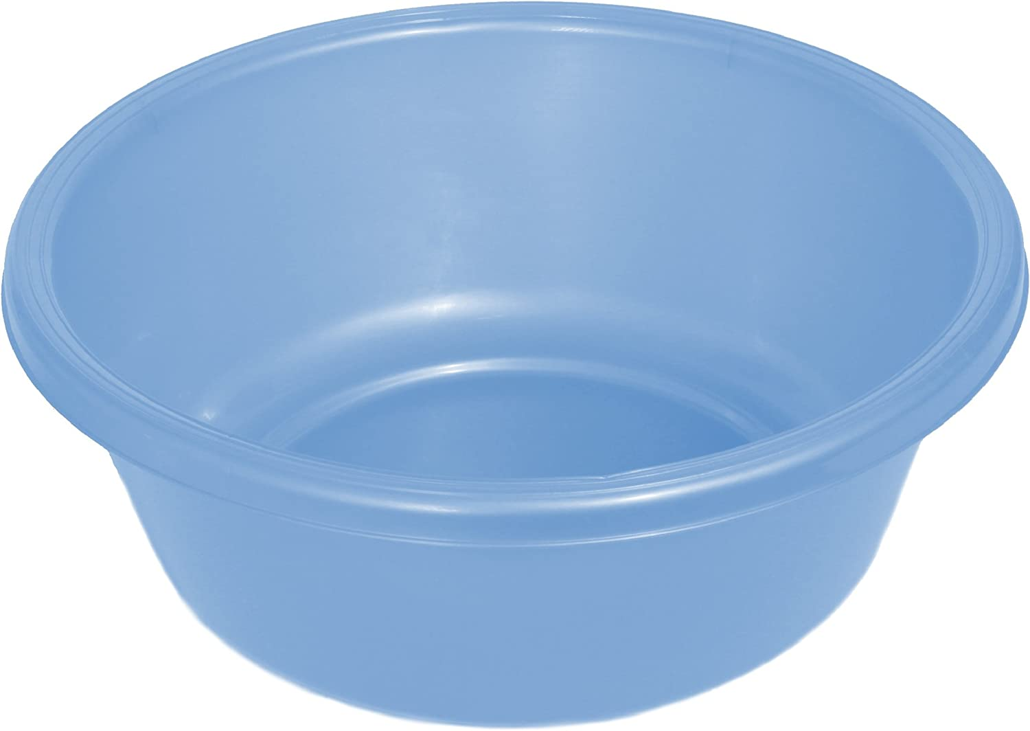 "YBM HOME Round Plastic Wash Basin (1148 11.25"", Light Blue)"