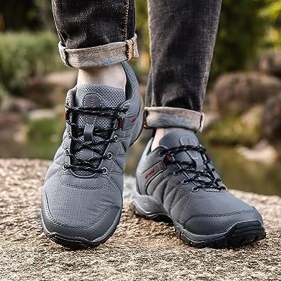Dannto Uomo Scarpe da Trekking Stivali da Escursionismo in Pelle  Impermeabile per Primavera ed EstateUomo Outdoor attività all aperto  Escursionismo ... 93c76e11d1a