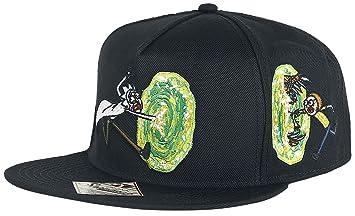 gorra de béisbol de Rick y Morty Portal Snapback Cap Run negro HHpaui2
