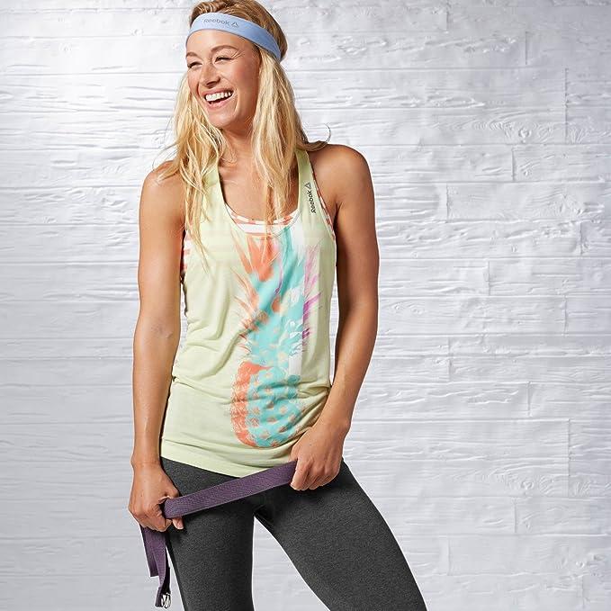 Reebok Yoga de la Mujer Palm Camiseta de Tirantes, Mujer ...