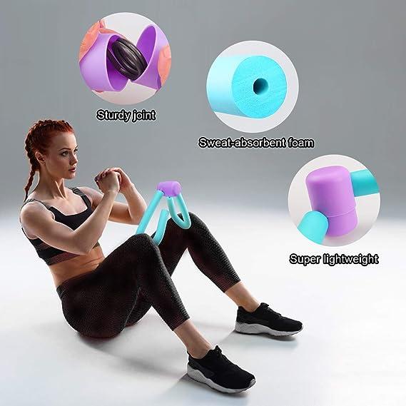 SM SunniMix Oberschenkeltrainer Beintrainer Fitness Workout Thighmaster Sit-Up Bar Stange Trainingsger/ät Home Gym Sport Toner und Yogamatte