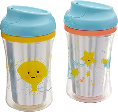 First Essentials by NUK Hard Spout Sippy Cup, 10 oz., 2 Pack, Assorted Colors