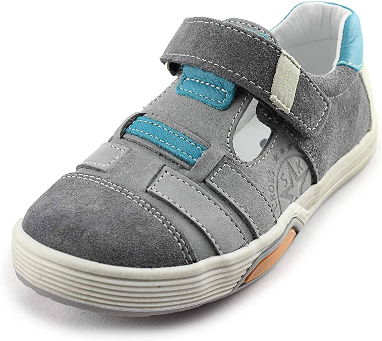 Bopy Balfred Boys Blue Leather Shoes Made in France Orthopedic support