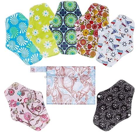 Compresas de tela reutilizables, pack de 6 compresas ecologicas de ...