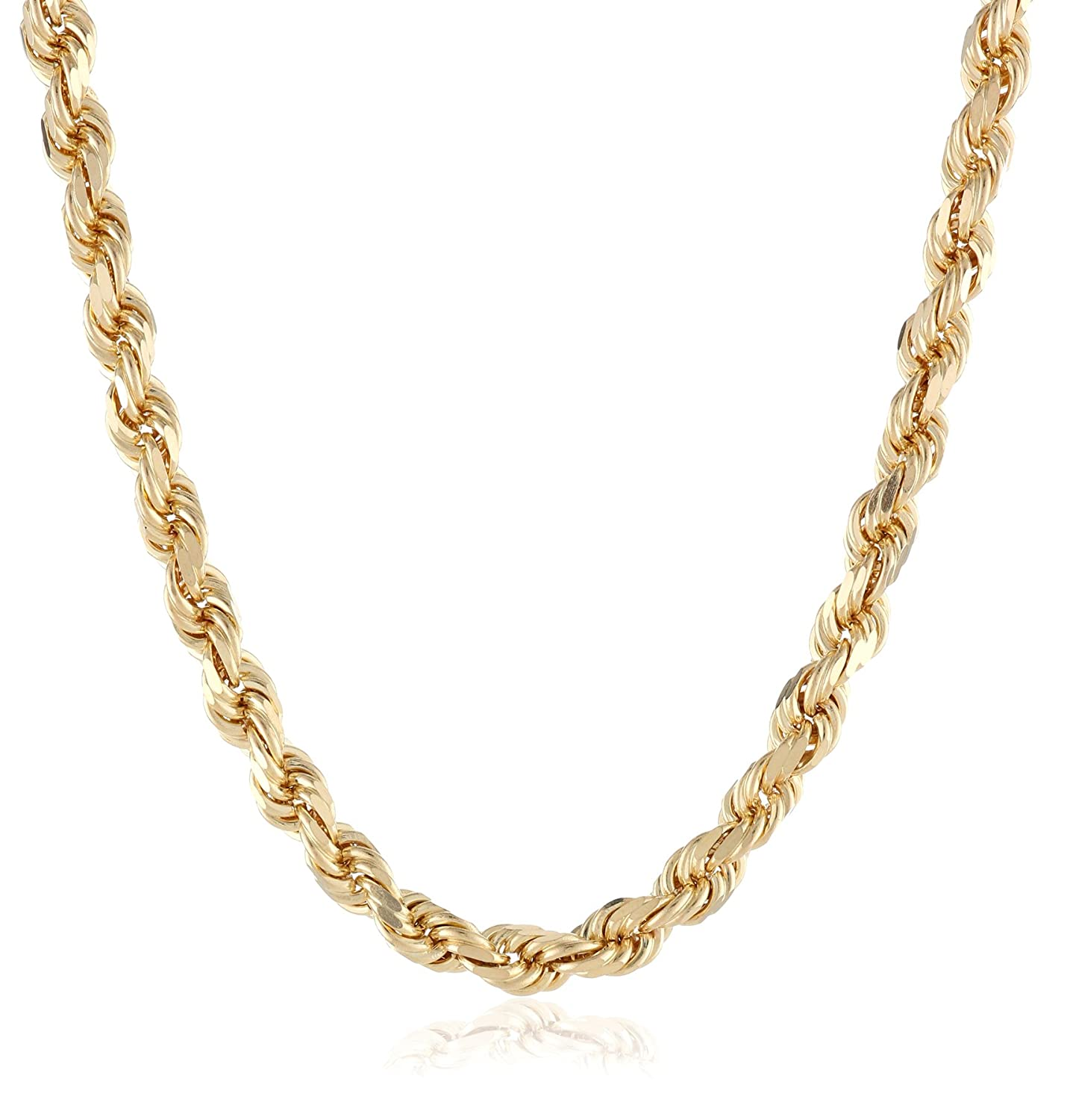 mm inches itm byzantine grams solid necklace gold mens chains women chain yellow