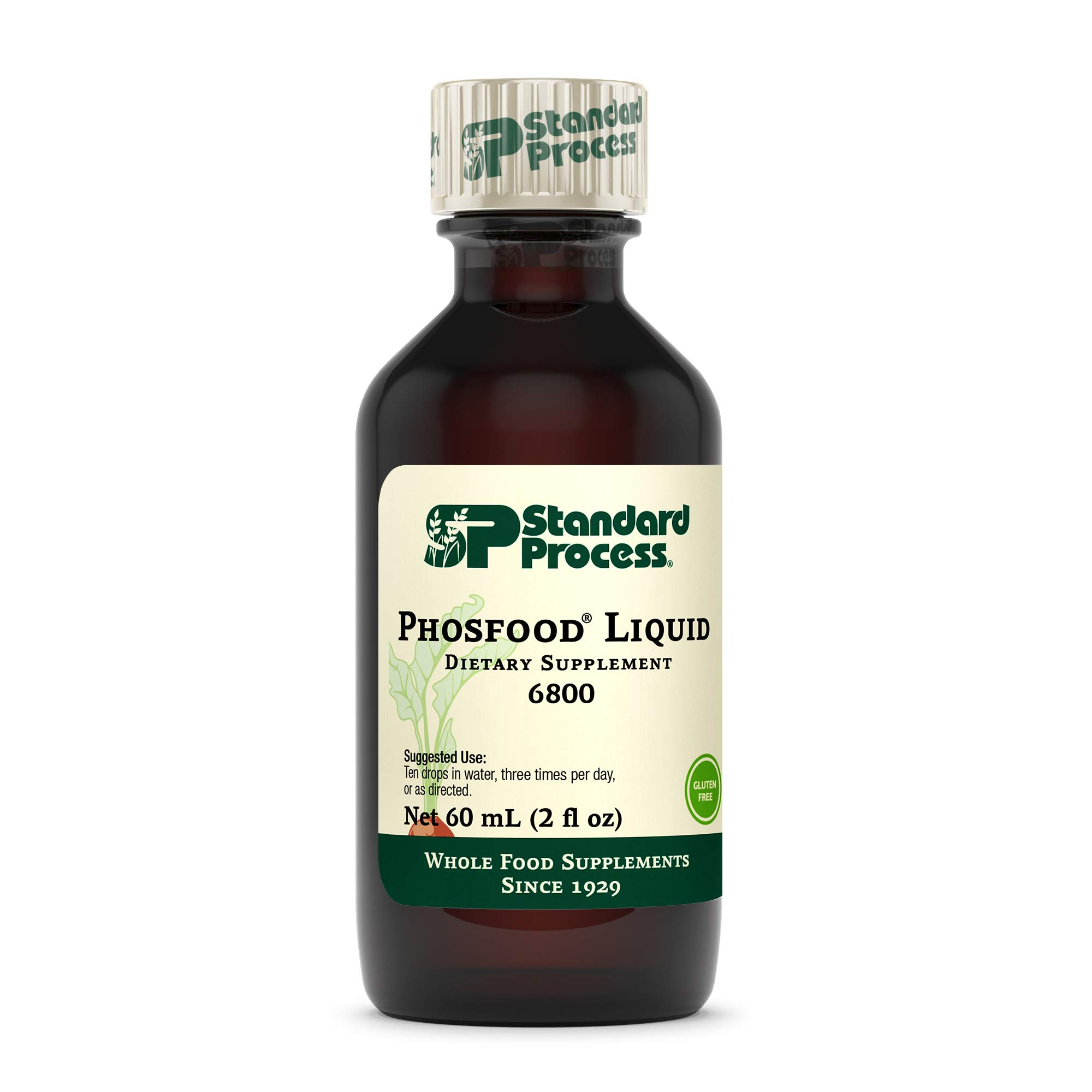 Standard Process Phosfood Liquid - Whole Food Bone Health and Bone Support, Phosphorus Supplements with Inositol and Riboflavin - 2 fl. oz.
