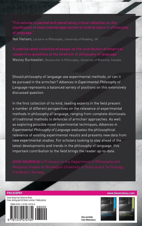 Advances in Experimental Philosophy of Language: Jussi Haukioja:  9781472570734: Books - Amazon.ca