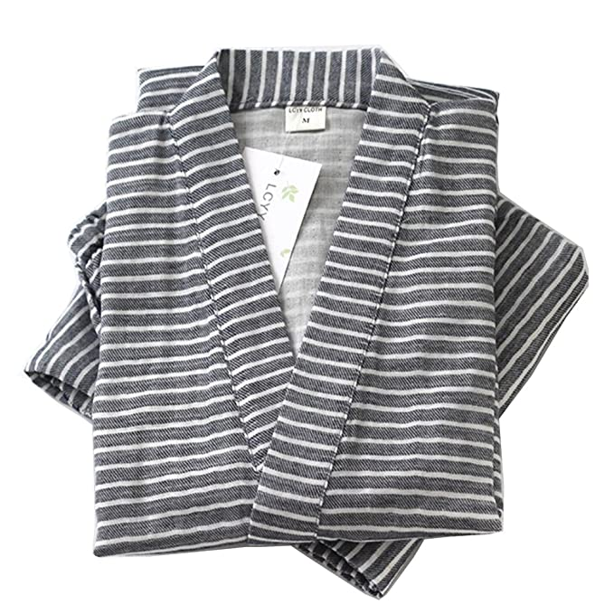Traje de Pijama de Kimono de Gasa de algodón Estilo japonés para Hombres Estilo japonés #