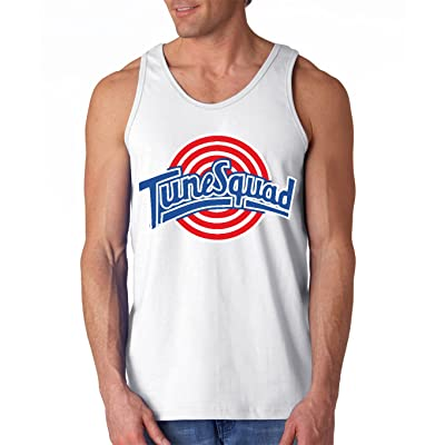 "Silo Shirts White Spacejam Tunesquad ""Bugs Bunny"" Front & Back TANK TOP"
