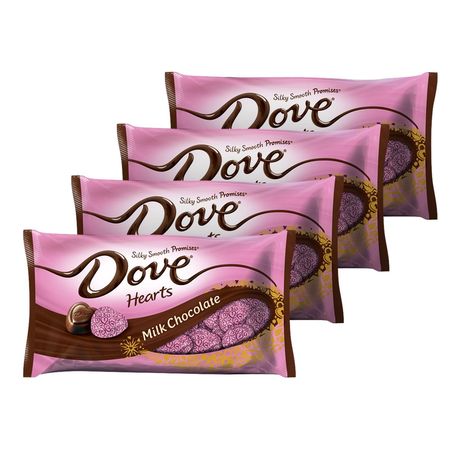 Amazon Com Dove Promises Valentine Milk Chocolate Candy Hearts 8 87 Ounce Bag Pack Of 4 Chocolate Candy Grocery Gourmet Food