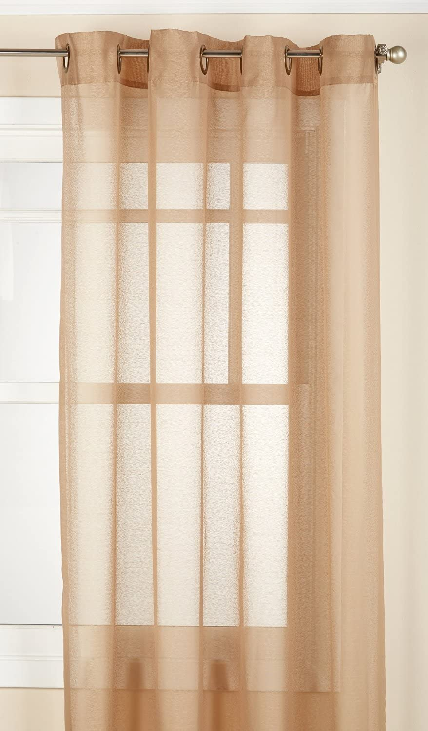 LORRAINE HOME FASHIONS Reverie Window Curtain Panel, 60 x 95, Taupe