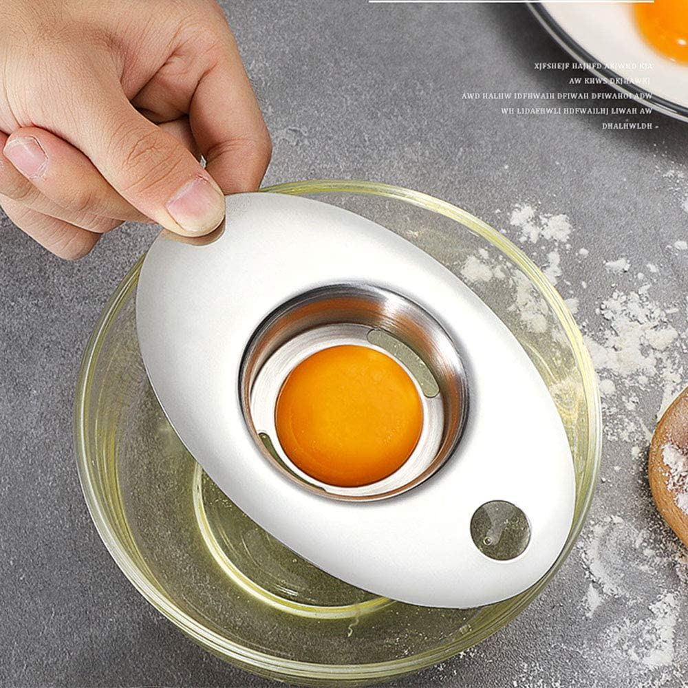 Jingming 2 unidades separador de huevos, separador de filtro ...