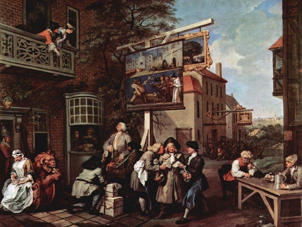 Lais Lais Lais Puzzle William Hogarth - Gemäldeserie »Wahlzyklus«, Szene: Wahlpropaganda 2000 Teile 777e35