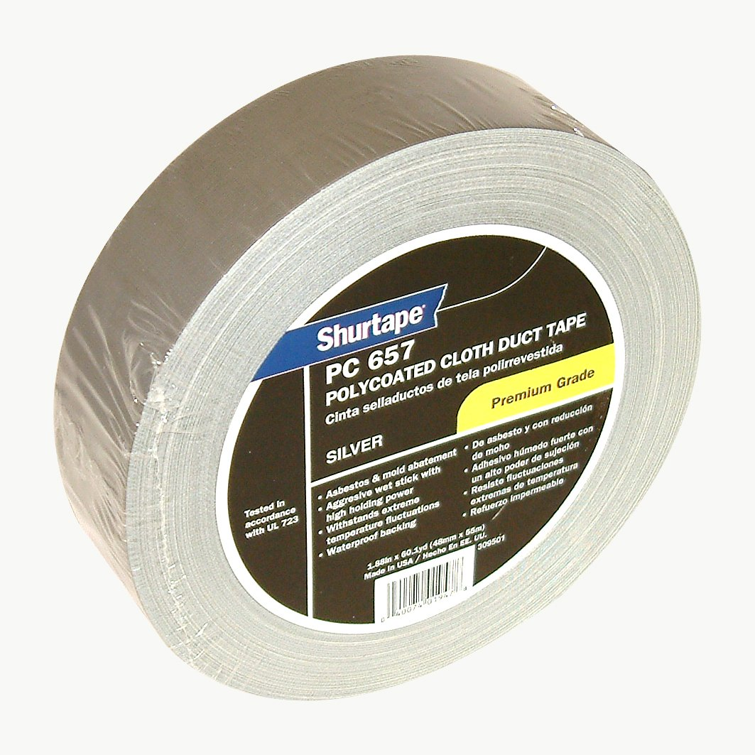 Shurtape PC-657 Premium Grade Duct Tape: 2 in. x 60 yds. (Silver)