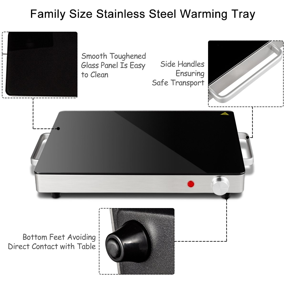 Giantex Warming Tray with Adjustable Temperature Control Perfect For Buffets, Restaurants and Home Dinners by Giantex (Image #5)