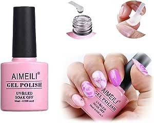 AIMEILI Nail Art Blossom Gel Nail Polish Soak Off UV LED Clear Blooming Gel Manicure 10ml