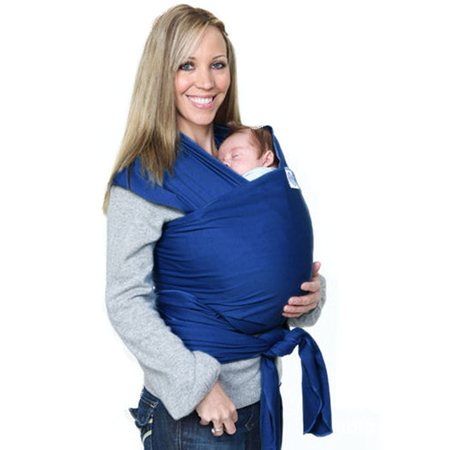 1b40044be54 Amazon.com   My miumiu Baby Straps Baby Wrap Carrier Baby carrier (Blue)    Baby