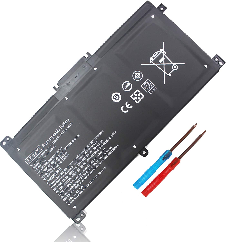 BK03XL 916811-855 Battery for HP Pavilion x360 Convertible 14m-ba1xx 14m-ba0xx 14m-ba011dx 14m-ba114dx 14m-ba015dx 14-ba000 14-ba153cl 14-ba253cl 14-ba004la 14-ba175nr TPN-W125 BK03041XL HSTNN-LB7S