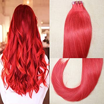 20 quot  20inch Tape In Hair Extensions 100% Human Hair 20pcs 50g pack fd672d6fc6