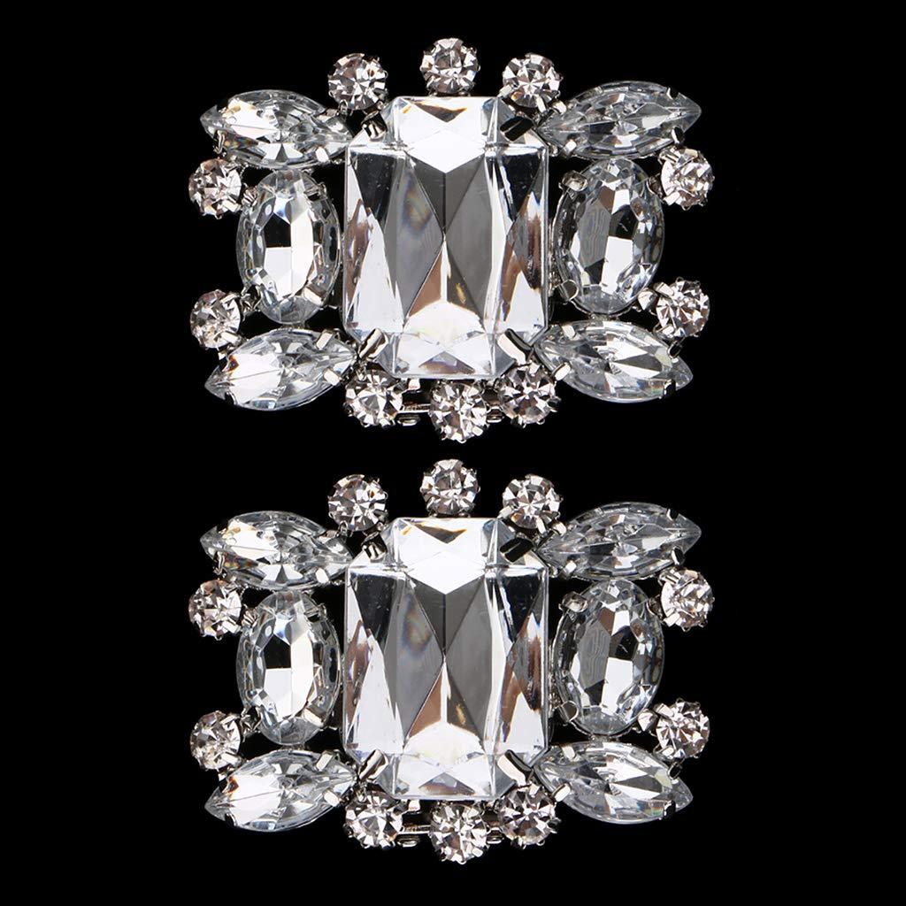 IPOTCH 2pcs Clip de Zapatos de Boda Floral con Diamantes de Imitaci/ón Adorno para Botas Zapatillas Vestidos