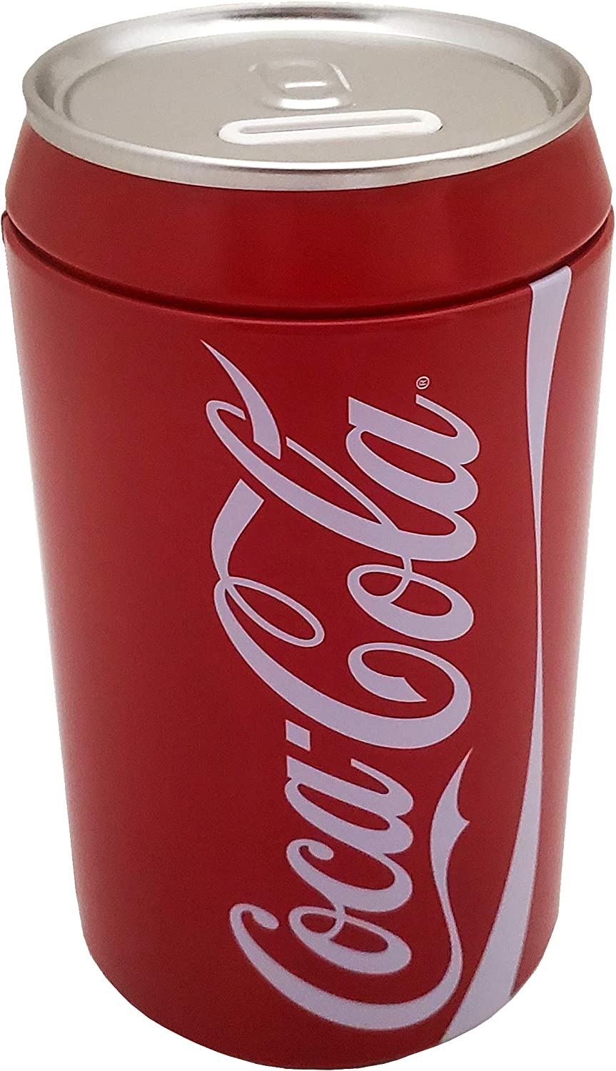 Amazon Com The Tin Box Company Coca Cola Can Bank With Removable Lid Red Model 660227 12 Toys Games