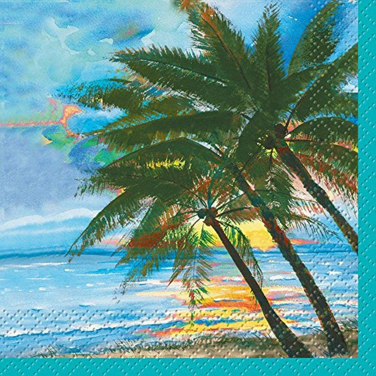 Unique Industries Palm Tree, 24 Count Beverage Napkins, 5