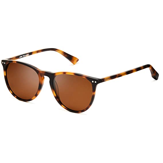 MVMT Ingram | Non-Polarized Round Womens & Mens Sunglasses | Matte Brandy Tortoise | 54 mm