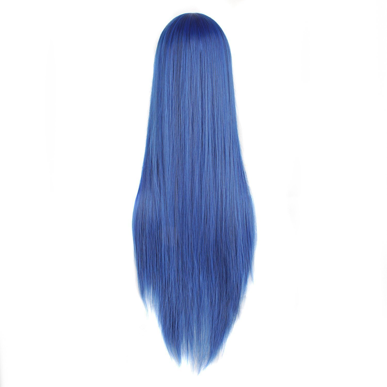 parrucca per cosplay accessori per capelli MapofBeauty Parrucca nera che pu/ò essere sistemata a doppia coda di cavallo
