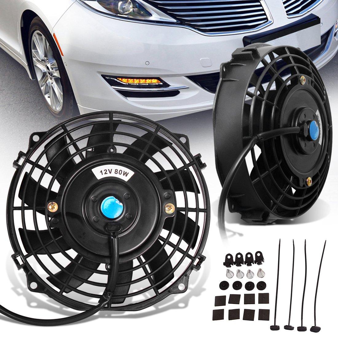 Auto Car Electric Radiator Cooling Cooler Fan Mount Fitting Kit Slim Line Set