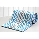 AURAVE Aqua Multicolor Abstract Print 1 Piece Cotton Duvet Cover/Quilt Cover/Blanket Cover, Single Bed (with Zipper)