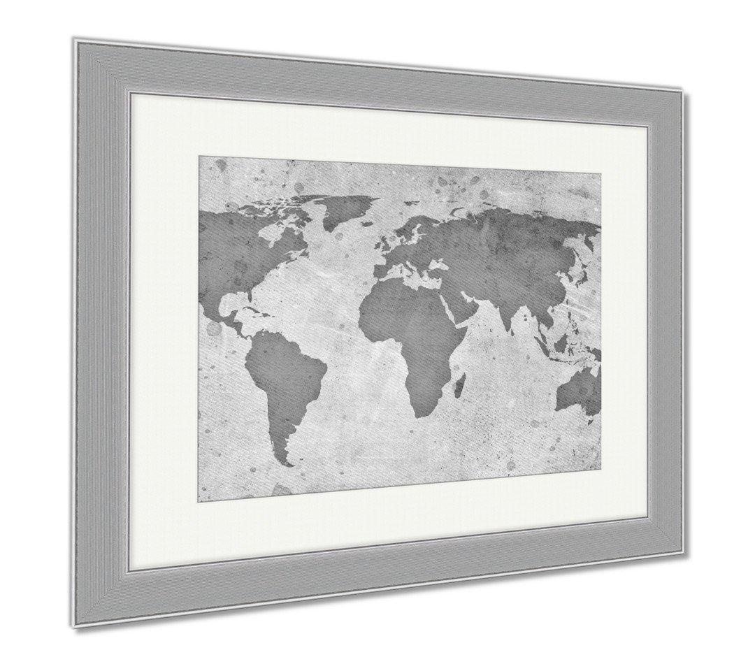 AshleyキャンバスヴィンテージMap of the World B07CBVNSJR、壁アートホーム装飾、ag6568969 34